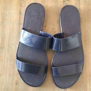 Joie Laila Two Strap Jelly Slides Size 38 / 7.5-8